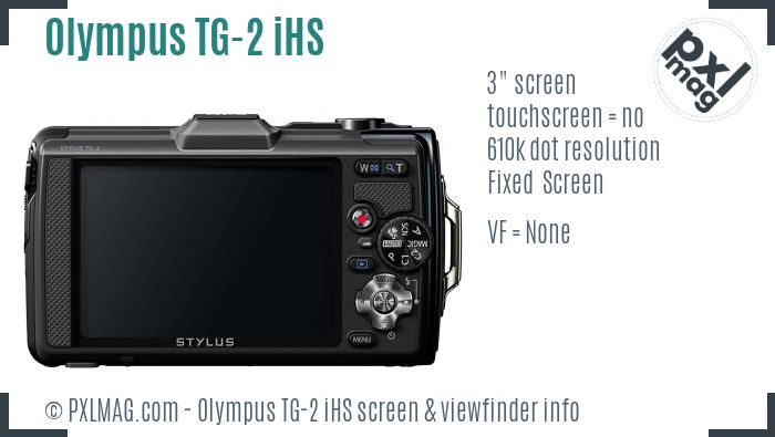 Olympus Tough TG-2 iHS screen and viewfinder