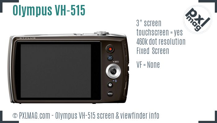 Olympus VH-515 screen and viewfinder