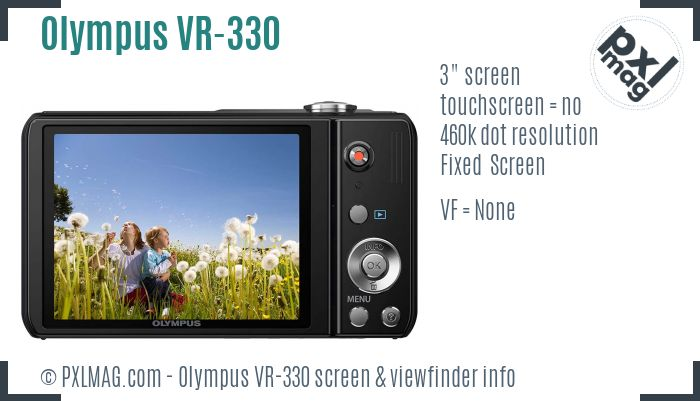 Olympus VR-330 screen and viewfinder