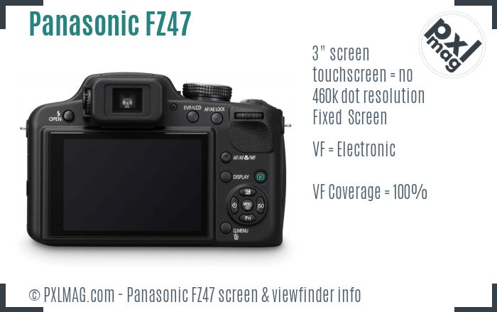 Panasonic Lumix DMC-FZ47 screen and viewfinder