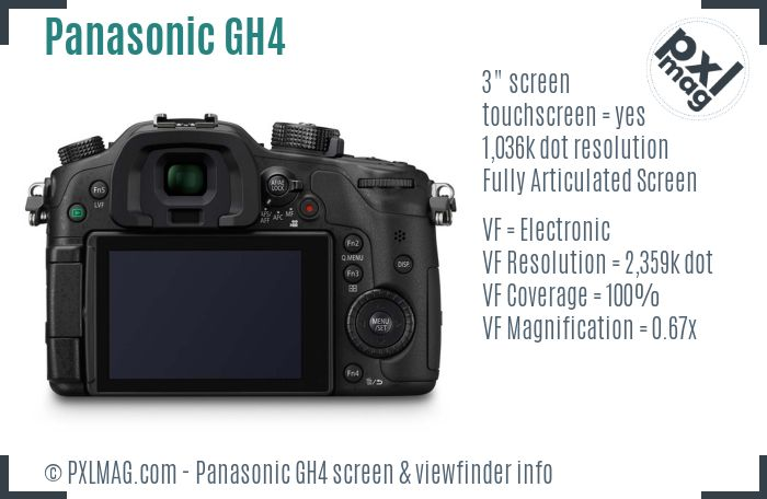 Panasonic Lumix DMC-GH4 screen and viewfinder