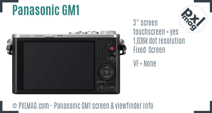 Panasonic Lumix DMC-GM1 screen and viewfinder