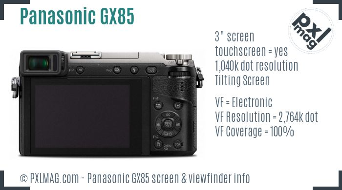 Panasonic Lumix DMC-GX85 screen and viewfinder