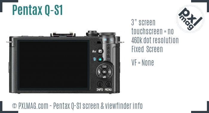 Pentax Q-S1 screen and viewfinder