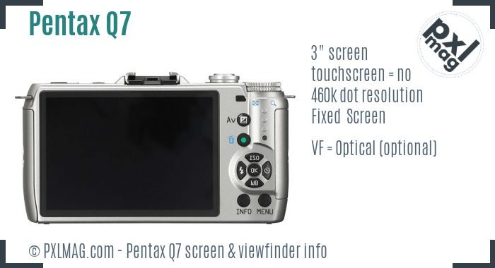 Pentax Q7 screen and viewfinder