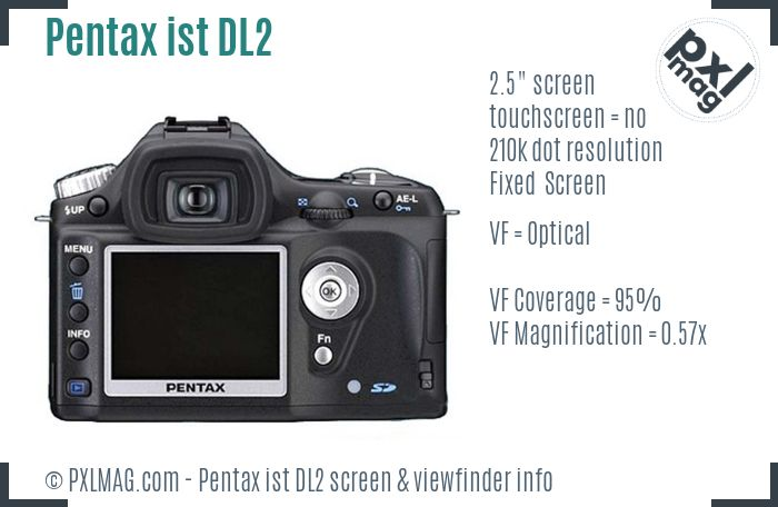 Pentax ist DL2 screen and viewfinder