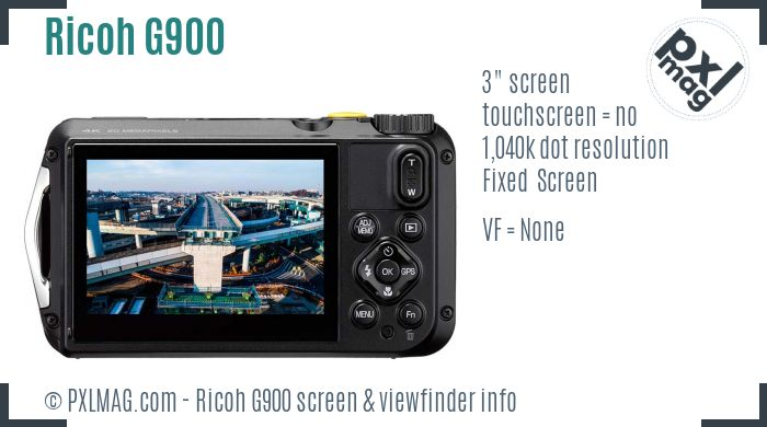 Ricoh G900 screen and viewfinder