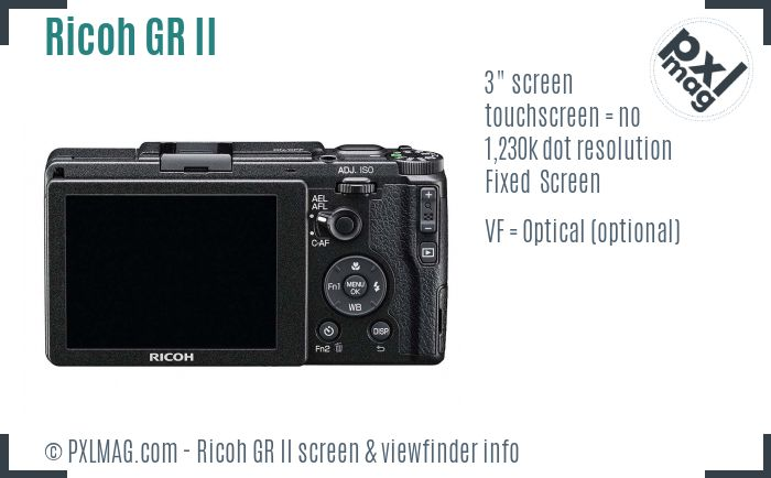 Ricoh GR II screen and viewfinder