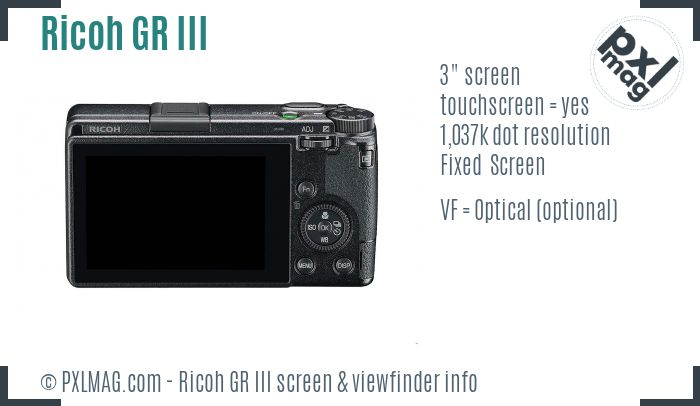 Ricoh GR III screen and viewfinder
