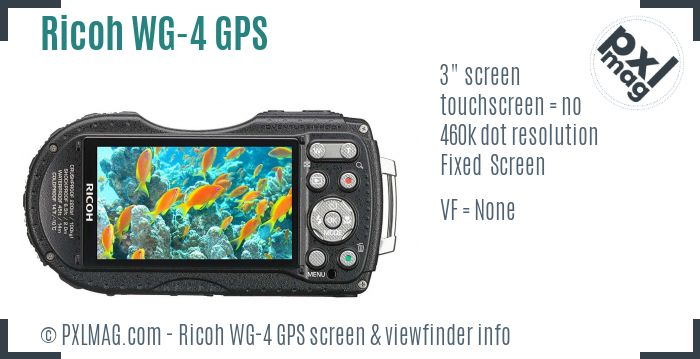 Ricoh WG-4 GPS screen and viewfinder