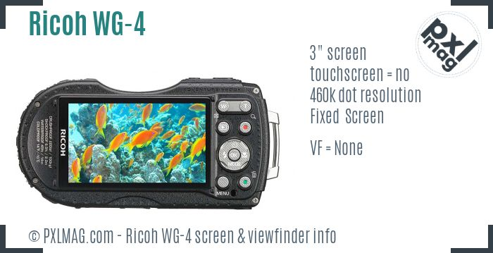 Ricoh WG-4 screen and viewfinder