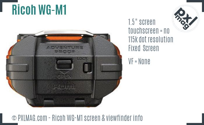 Ricoh WG-M1 screen and viewfinder