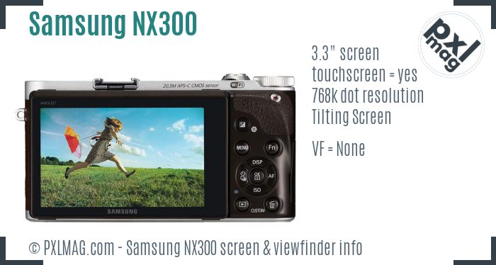 Samsung NX300 screen and viewfinder