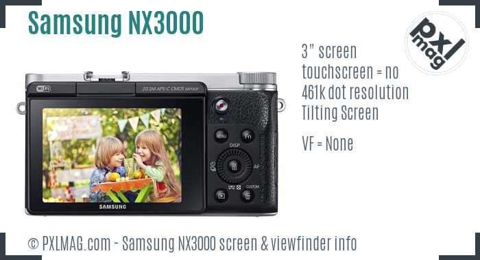 Samsung NX3000 screen and viewfinder
