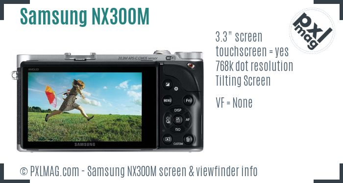 Samsung NX300M screen and viewfinder