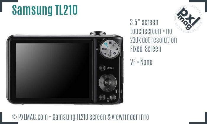 Samsung TL210 screen and viewfinder