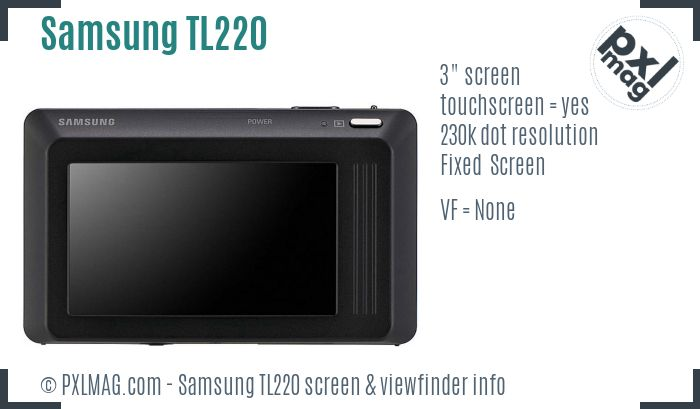 Samsung TL220 screen and viewfinder