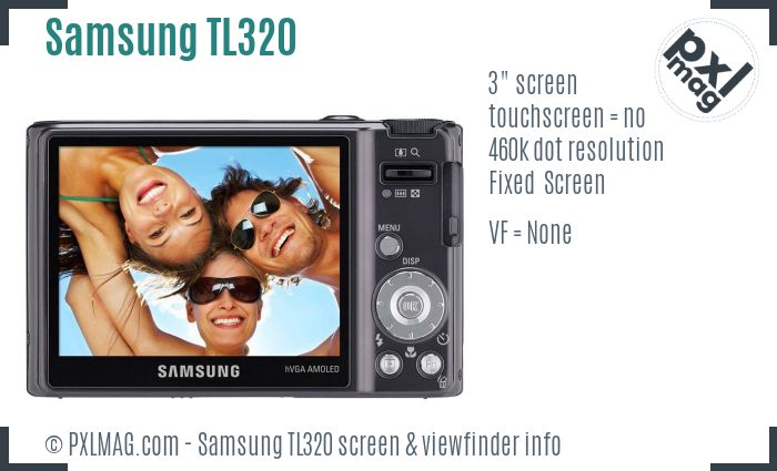 Samsung TL320 screen and viewfinder