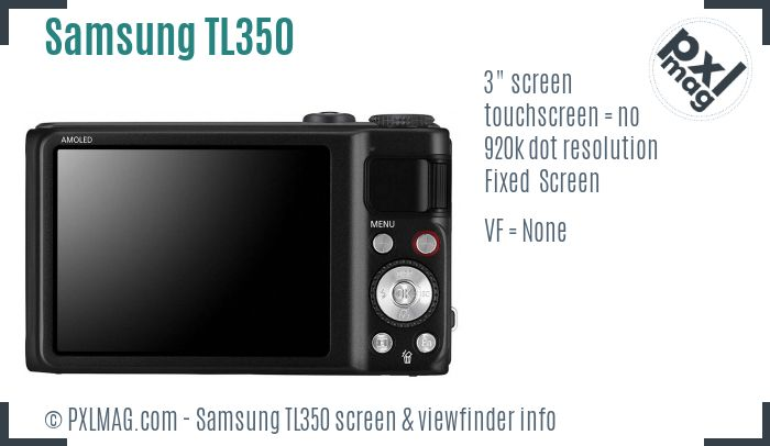 Samsung TL350 screen and viewfinder