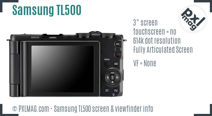 Samsung TL500 screen and viewfinder