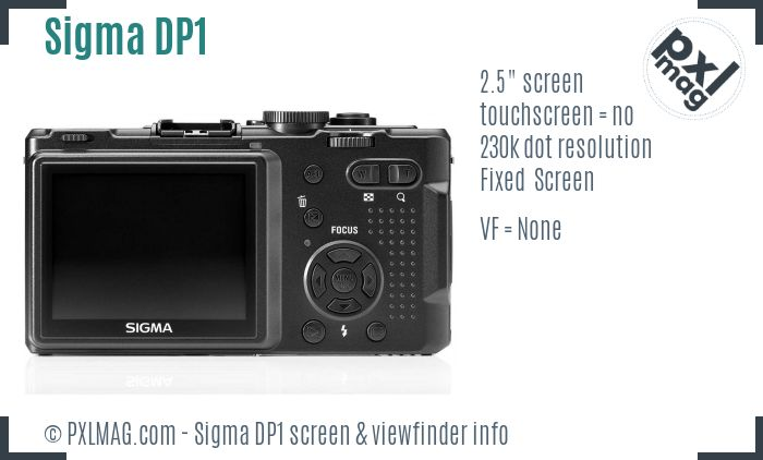 Sigma DP1 screen and viewfinder