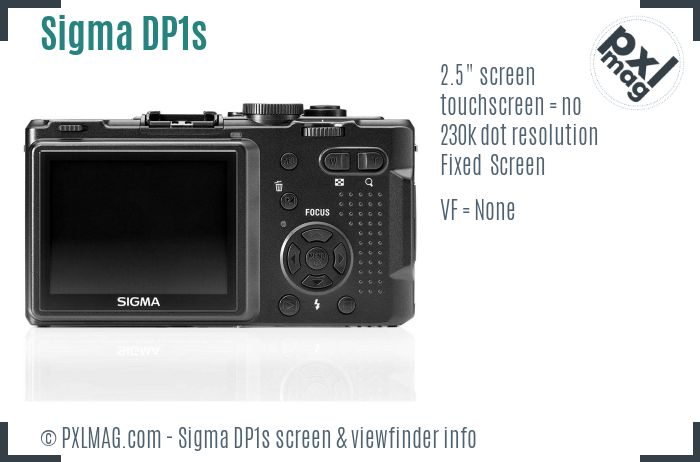 Sigma DP1s screen and viewfinder