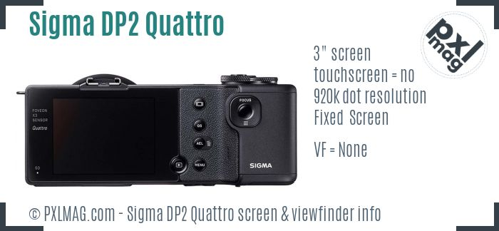 Sigma DP2 Quattro screen and viewfinder