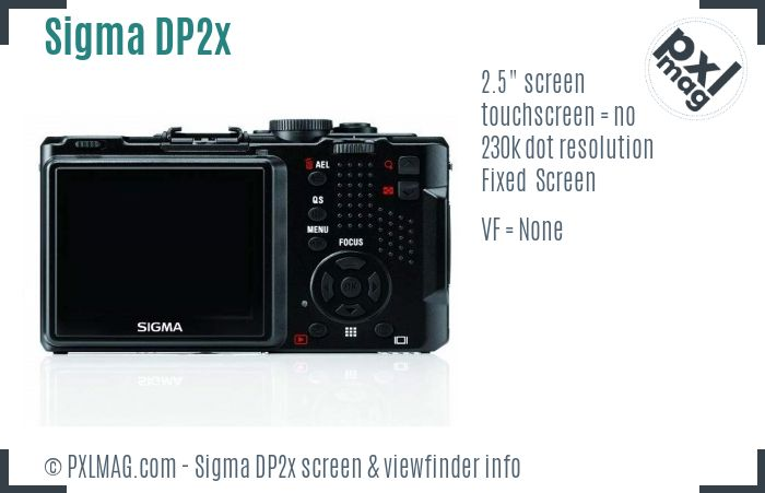 Sigma DP2x screen and viewfinder
