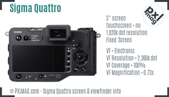 Sigma sd Quattro screen and viewfinder