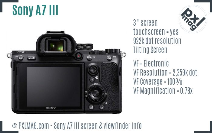 Sony Alpha A7 III screen and viewfinder