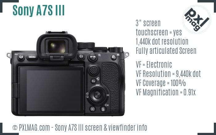 Sony Alpha A7S III screen and viewfinder