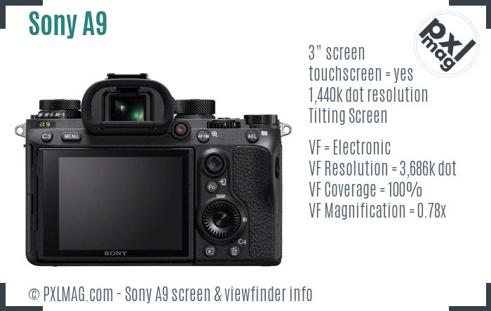 Sony Alpha A9 screen and viewfinder
