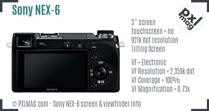 Sony Alpha NEX-6 screen and viewfinder