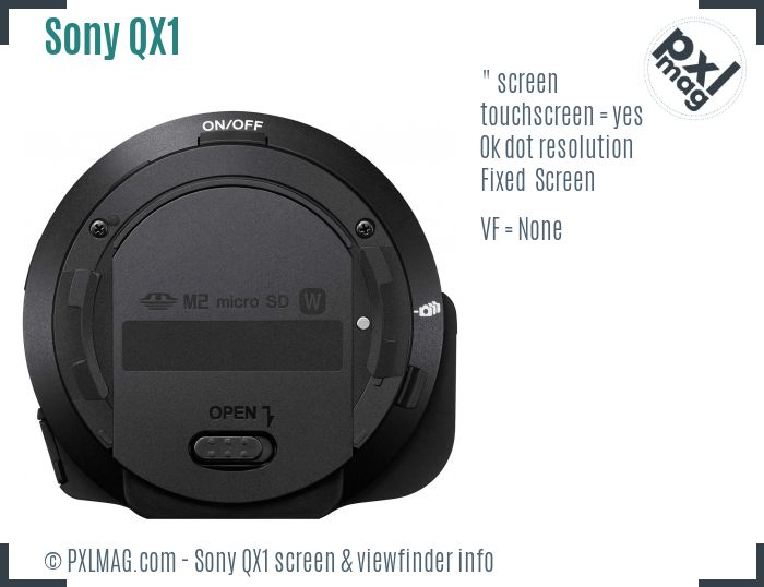 Sony Alpha QX1 screen and viewfinder