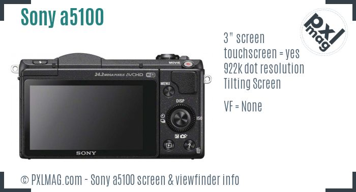 Sony Alpha a5100 screen and viewfinder