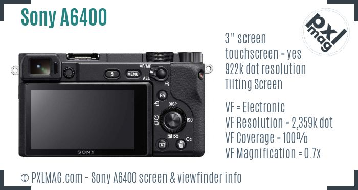 Sony Alpha a6400 screen and viewfinder