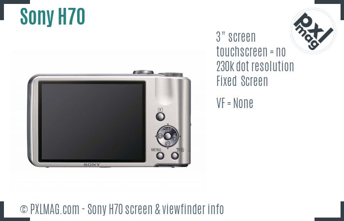 Sony Cyber-shot DSC-H70 screen and viewfinder