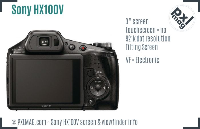 Sony Cyber-shot DSC-HX100V screen and viewfinder