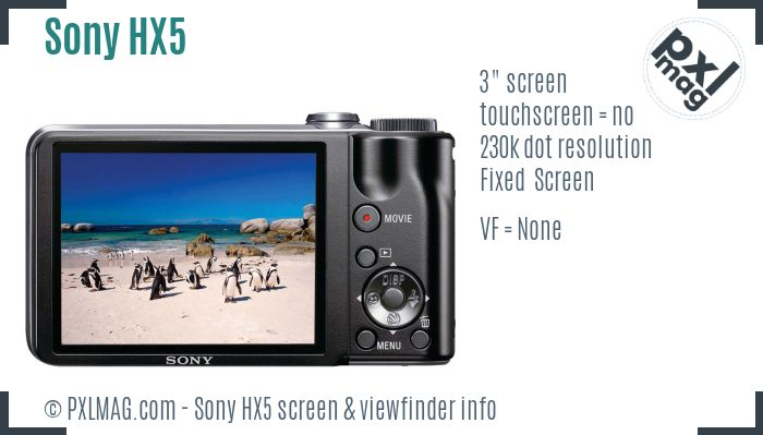 Sony Cyber-shot DSC-HX5 screen and viewfinder