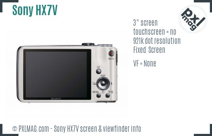 Sony Cyber-shot DSC-HX7V screen and viewfinder