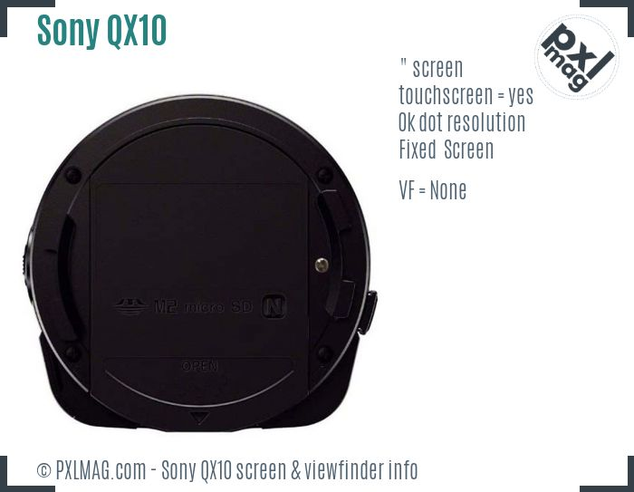 Sony Cyber-shot DSC-QX10 screen and viewfinder