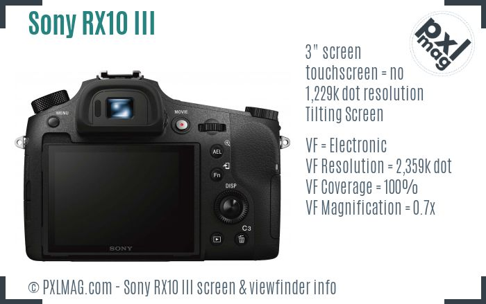 Sony Cyber-shot DSC-RX10 III screen and viewfinder