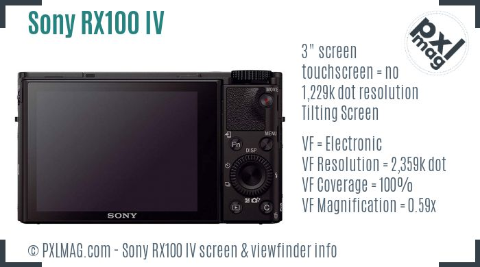 Sony Cyber-shot DSC-RX100 IV screen and viewfinder