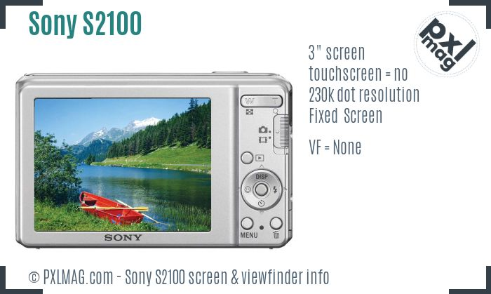 Sony Cyber-shot DSC-S2100 screen and viewfinder