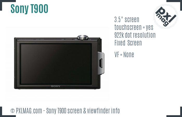 Sony Cyber-shot DSC-T900 screen and viewfinder