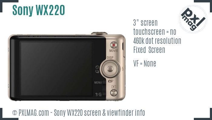 Sony Cyber-shot DSC-WX220 screen and viewfinder