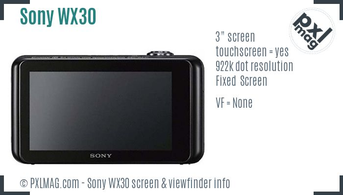 Sony Cyber-shot DSC-WX30 screen and viewfinder