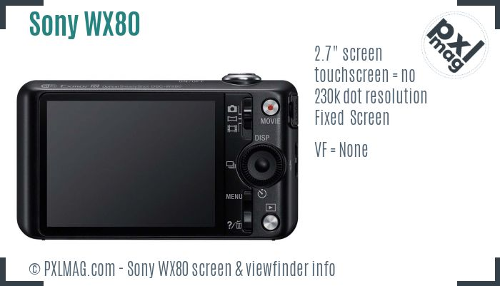 Sony Cyber-shot DSC-WX80 screen and viewfinder