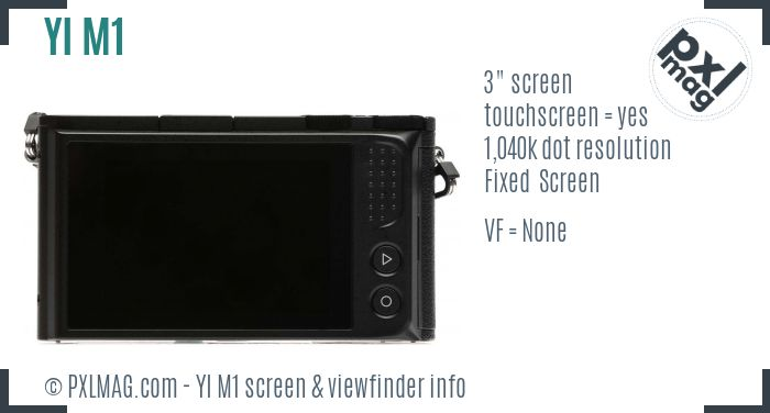 YI M1 screen and viewfinder
