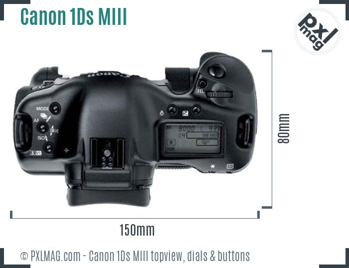 Canon EOS-1Ds Mark III topview buttons dials